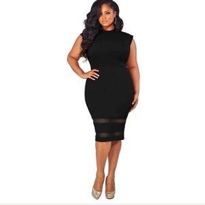 Women's plus size casual dress in black